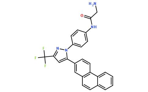 2-氨基-N-[4-[5-(2-菲基)-3-(三氟甲基)-1H-吡唑-1-基]苯基]乙酰胺