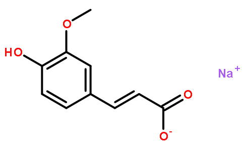 3-甲氧基-4-羟基肉桂酸钠