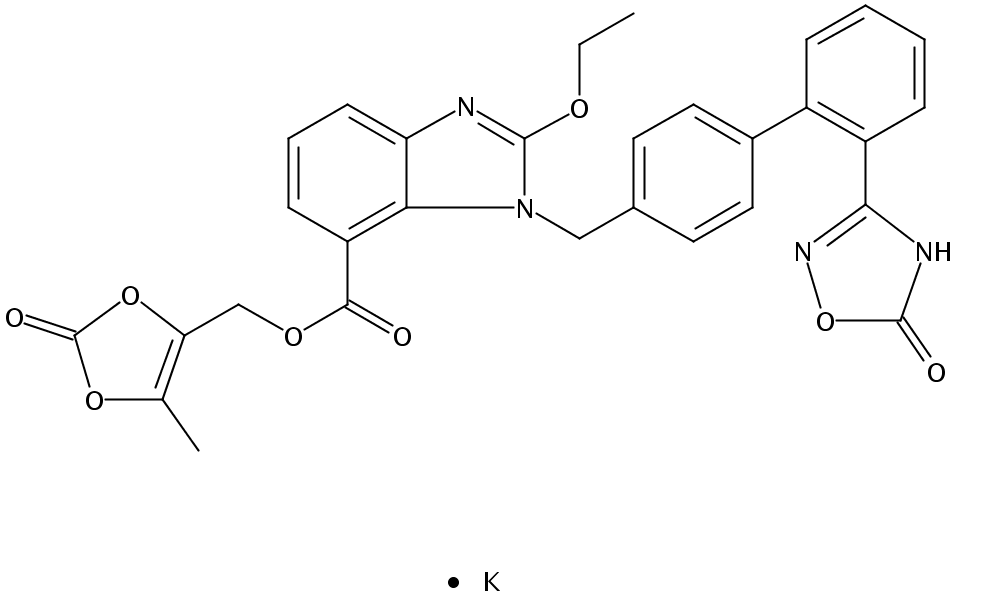 阿齐沙坦酯钾盐