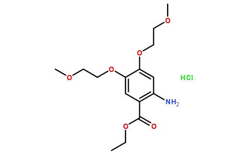 2-氨基-4,5-双(2-甲氧基乙氧基)苯甲酸乙酯盐酸盐