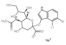 5-溴-4-氯-3-吲哚基-alpha-D-N-乙酰神经氨酸钠盐