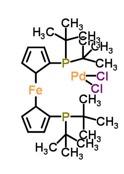 [1,1'-二(二叔丁基膦)二茂铁]合二氯钯(II)