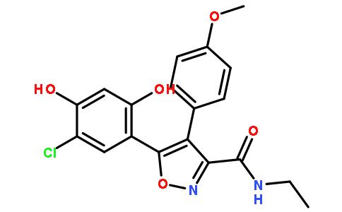5-(5-氯-2,4-二羟基苯基)-n-乙基-4-(4-甲氧基苯基)异噁唑-3-羧酰胺