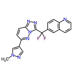 6-[二氟[6-(1-甲基-1H-吡唑-4-基)-1,2,4-三唑并[4,3-b]哒嗪-3-基]甲基]喹啉