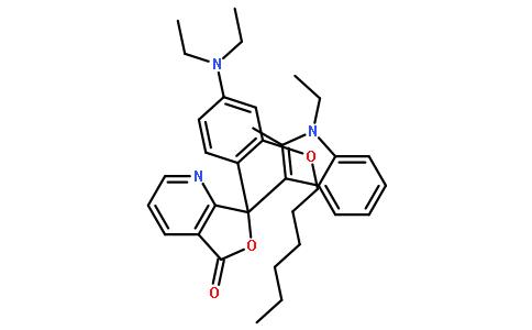 7-[4-(二乙氨基)-2-(己氧基)苯基]-7-(1-乙基-2-甲基-1H-吲哚-3-基)呋喃并[3,4-B]吡啶-5(7H)-酮