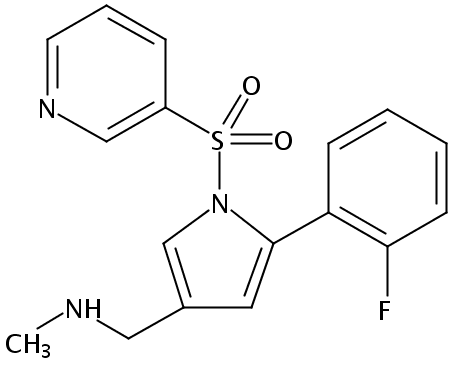 5-(2-氟苯基)-N-甲基-1-(3-吡啶基磺酰基)-1H-吡咯-3-甲胺