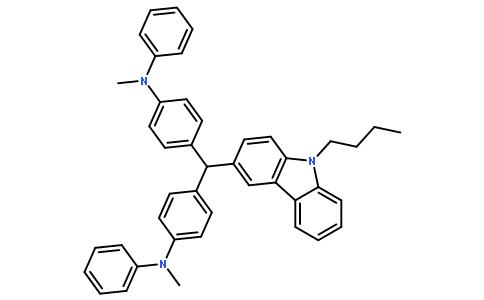 4,4'-[(9-丁基-9氢-咔唑-3-)亚甲基]双[N-甲基-N-苯基]苯胺