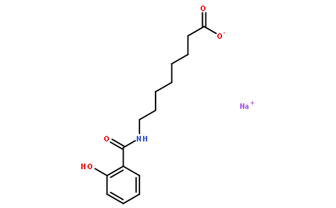 8-(2-羟基苯甲酰胺基)辛酸钠
