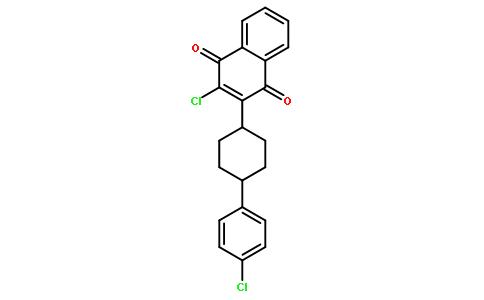 反式-2-氯-3-[4-(4-氯苯基)环己基]-1,4-萘二酮