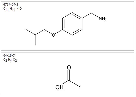 4-异丁氧基苄胺醋酸盐