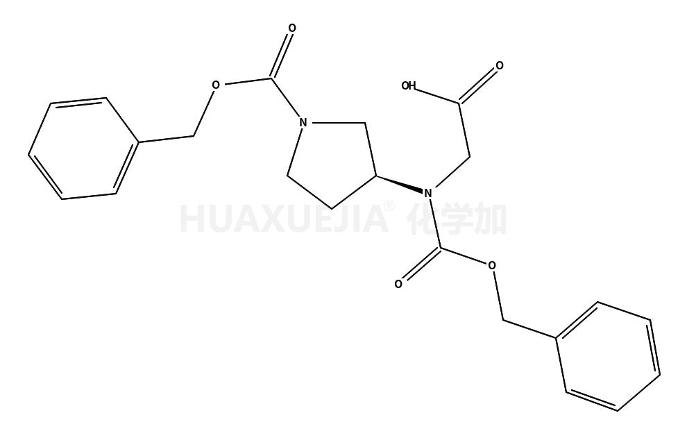 (3秒)-3-(苄氧羰基-羧甲基氨基)吡咯烷-1-羧酸苄酯