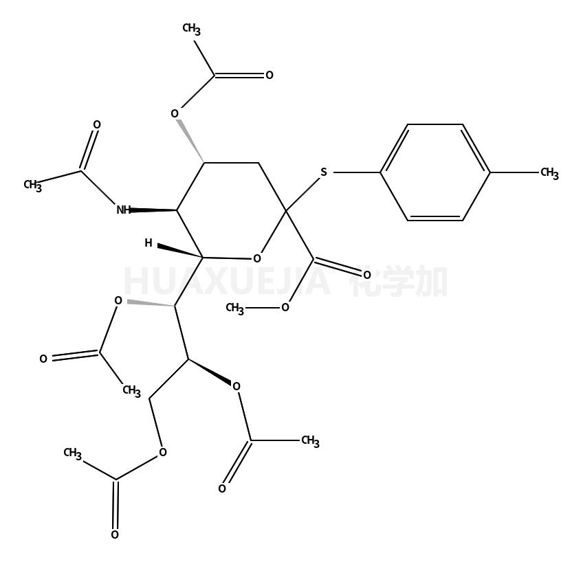 Neuraminic acid,N-acetyl-2-S-(4-methylphenyl)-2-thio-,menthyl ester, 4,7,8,9-tetraacetate