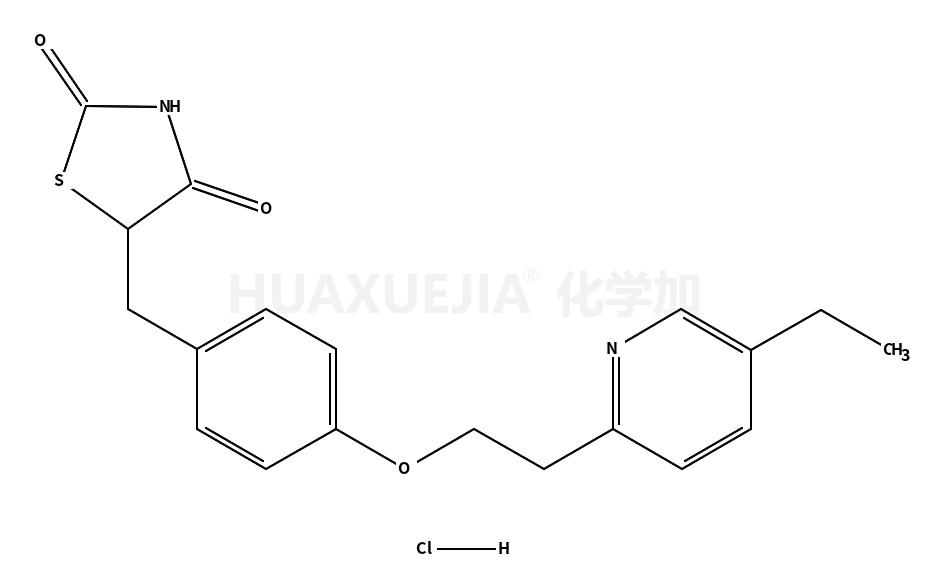 5-{4-[2-(5-乙基-2-吡啶)-乙氧基]-苯基}-2,4-噻唑烷二酮盐酸盐