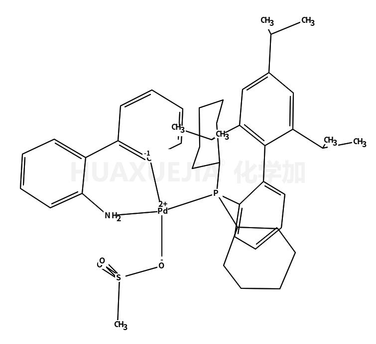 甲烷磺酸(2-二环己基膦基-2',4',6'-三-异丙基-1,1'-联苯基)(2'-氨基-1,1'-联苯-2-基)钯(II)