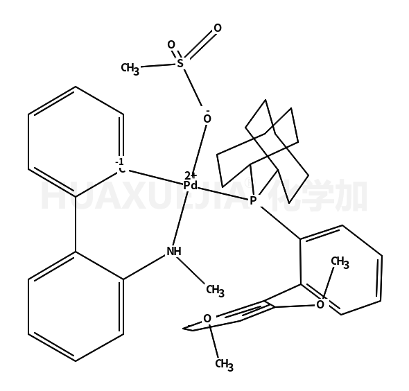 Methanesulfonato(2-dicyclohexylphosphino-2',6'-dimethoxy-1,1'-biphenyl)(2'-methylamino-1,1'-biphenyl-2-yl)palladium(II) dichloromethane adduct min