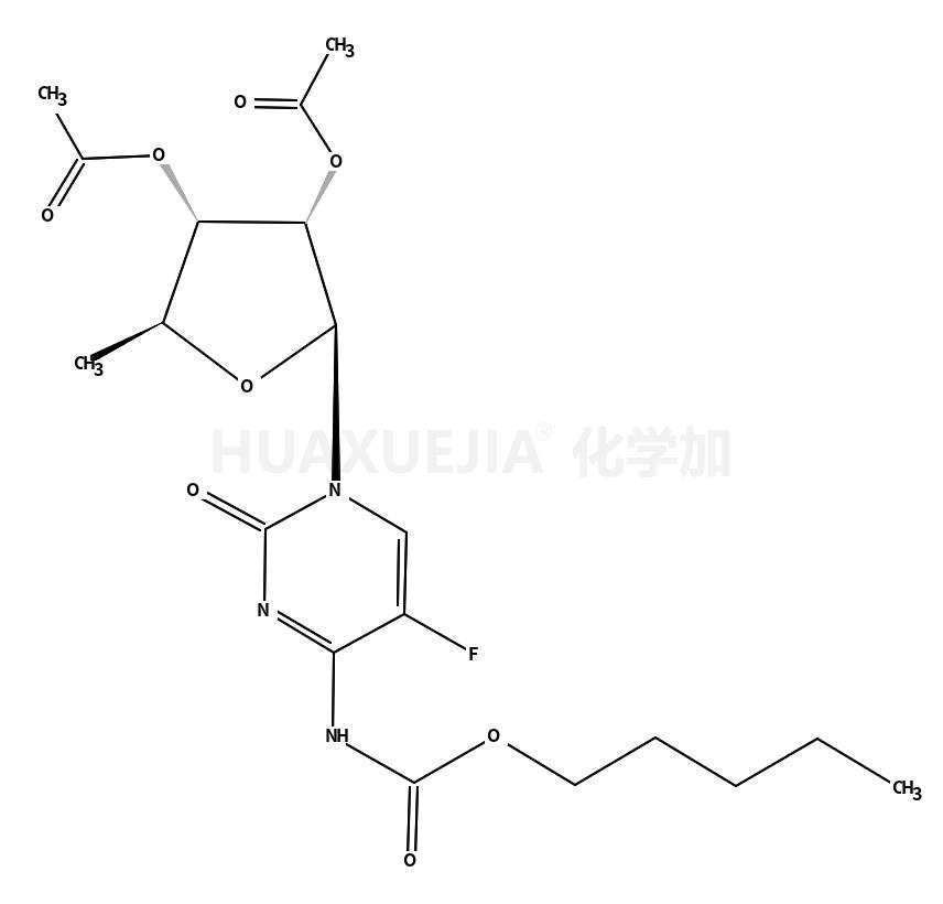 5'-脱氧-5-氟-N-[(戊氧基)羰基]胞苷 2',3'-二乙酸酯