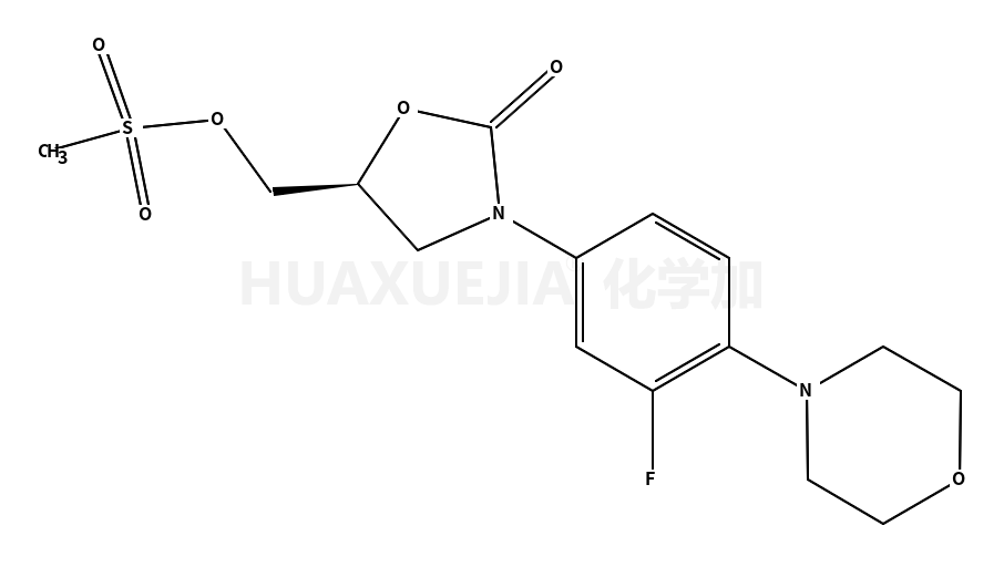 (R)-N-[3-(3-氟-(4-吗啉基)苯基)-2-氧代-5-噁唑烷基]甲醇甲磺酸酯