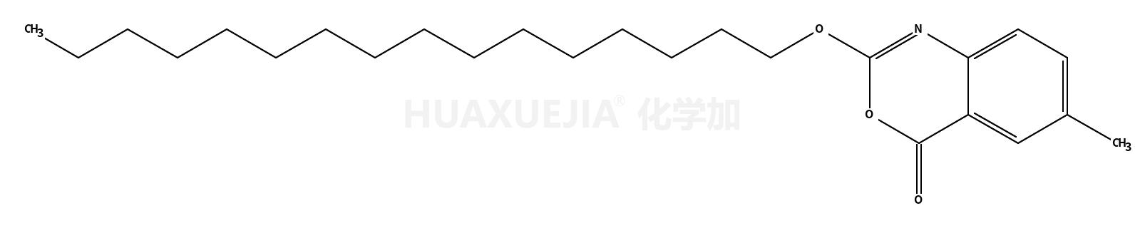 2-十六烷基氧代-6-甲基-4H-3,1-苯并恶嗪-4-酮