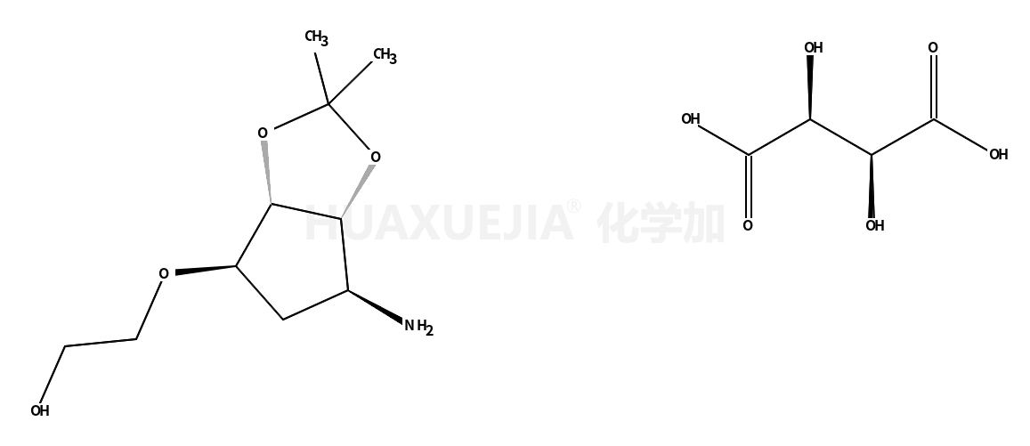 2-[[(3aR,4S,6R,6aS)-6-氨基四氢-2,2-二甲基-4H-环戊并-1,3-二恶茂-4-基]氧基]-乙醇 (2R,3R)-2,3-二羟基丁二酸盐