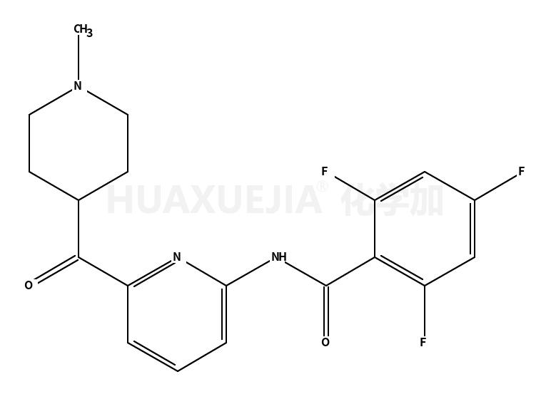 2,4,6-三氟-N-[6-[(1-甲基-4-哌啶基)羰基]-2-吡啶基]苯甲酰胺