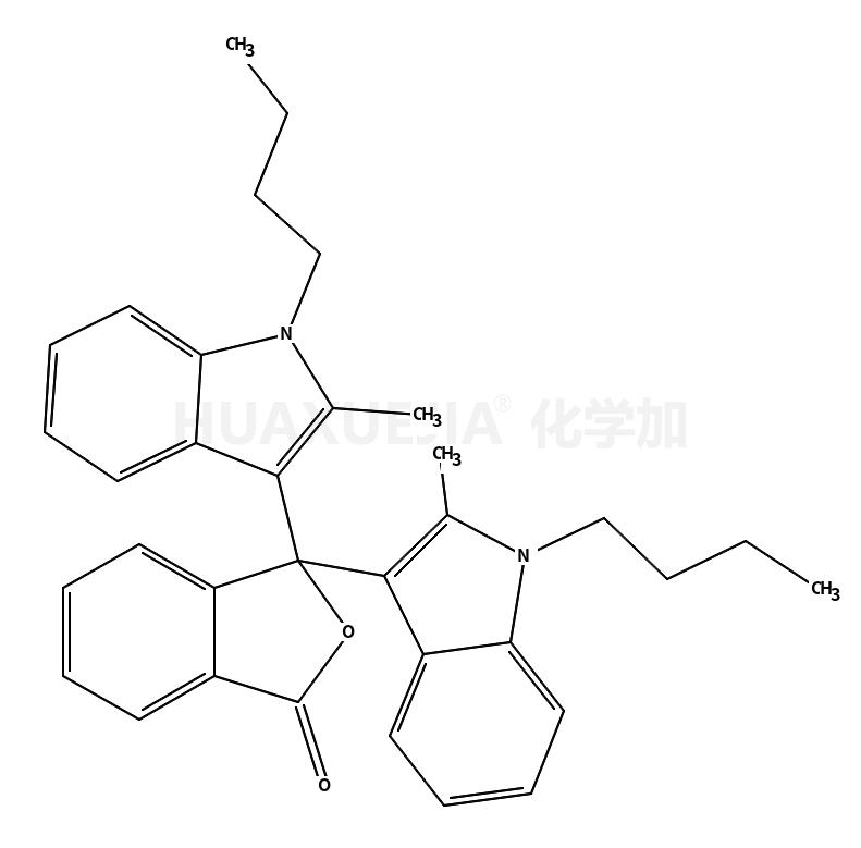 3,3-双(1-丁基-2-甲基-1H-吲哚-3-基)-1(3H)-异苯并呋喃酮