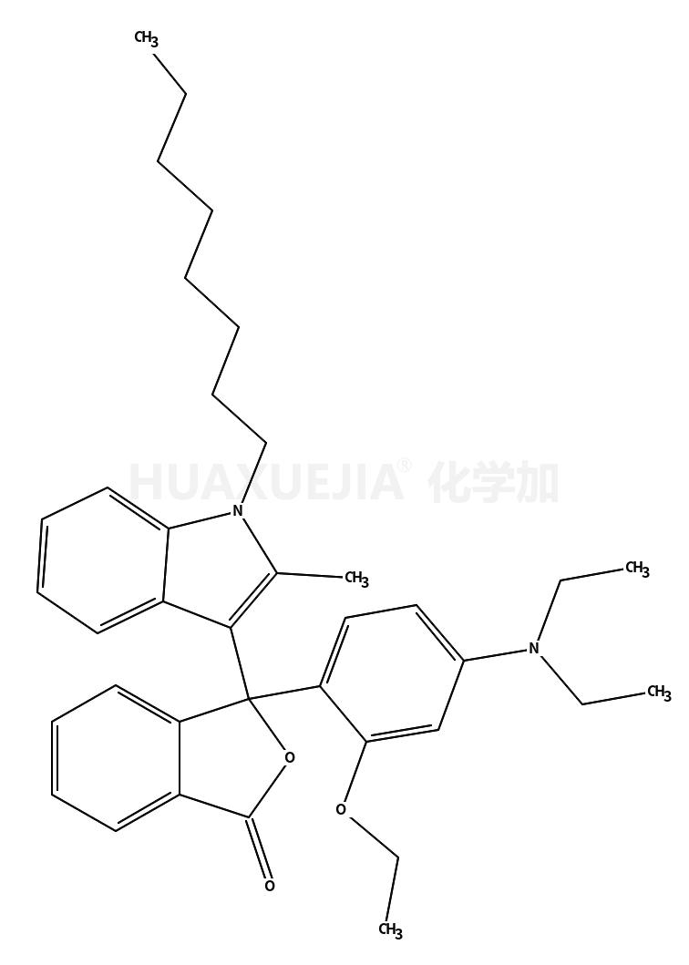 3-(2-乙氧基-4-二乙基氨基苯基)-3-(1-辛基-2-甲基吲哚-3-基)苯酞
