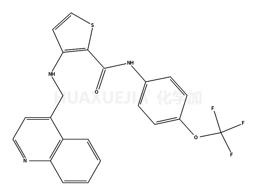 3-(quinolin-4-ylmethylamino)-N-[4-(trifluoromethoxy)phenyl]thiophene-2-carboxamide