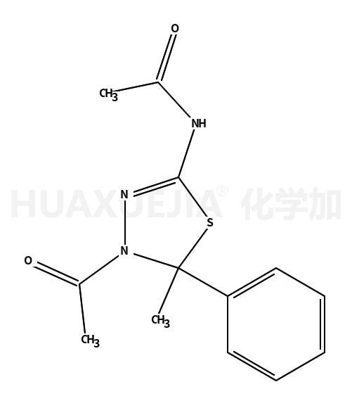 N-(4-Acetyl-5-methyl-5-phenyl-4,5-dihydro-1,3,4-thiadiazol-2-yl)a cetamide