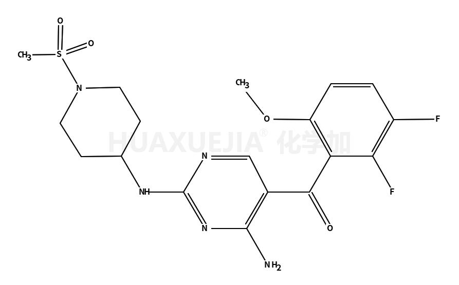 [4-氨基-2-[(1-甲磺酰基哌啶-4-基)氨基]嘧啶-5-基](2,3-二氟-6-甲氧基苯基)甲酮