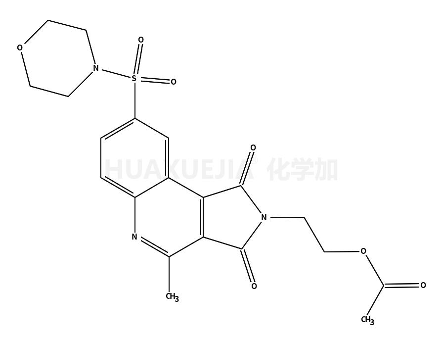 4-[[2-[2-(乙酰基氧基)乙基]-2,3-二氢-4-甲基-1,3-二氧-1H-吡咯并[3,4-c]喹啉-8-基]磺酰基]-吗啉