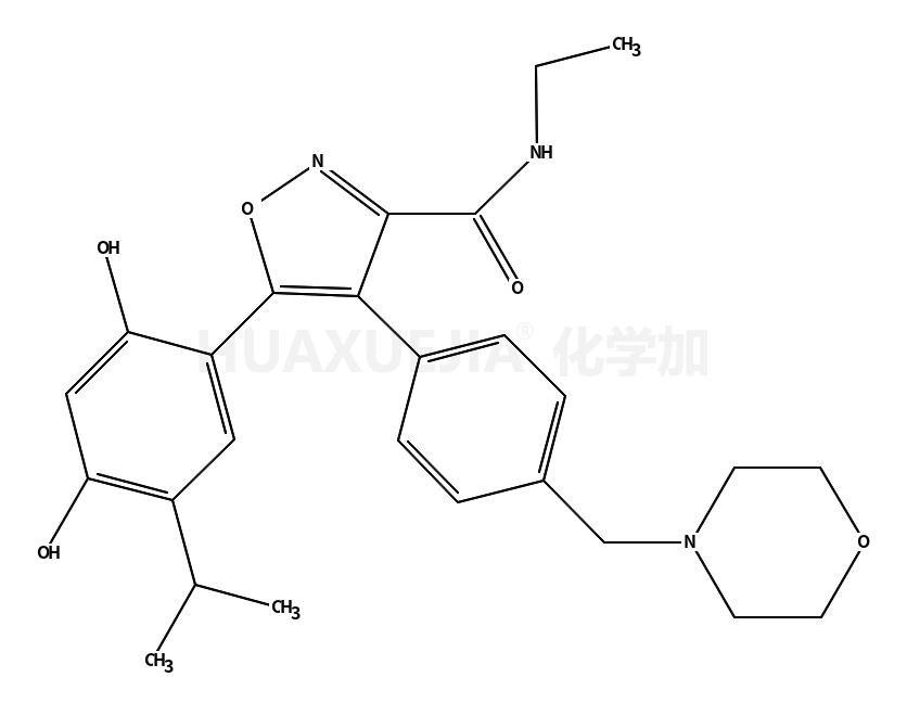 5-[2,4-二羟基-5-异丙基苯基]-N-乙基-4-[4-(4-吗啉基甲基)苯基]-3-异恶唑甲酰胺