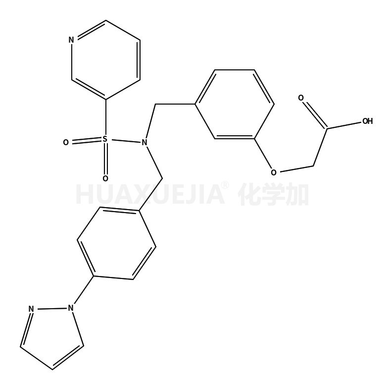 2-[3-[[(4-pyrazol-1-ylphenyl)methyl-pyridin-3-ylsulfonylamino]methyl]phenoxy]acetic acid