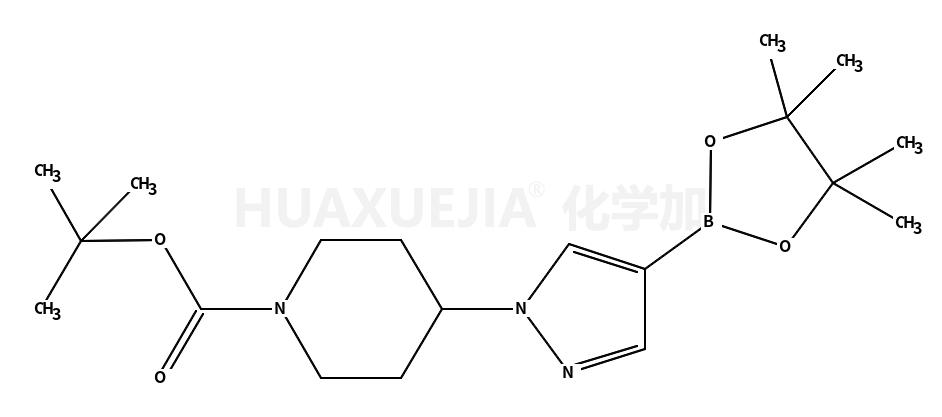 4-[4-(4,4,5,5-四甲基-1,3,2-二氧杂环戊硼烷-2-基)-1H-吡唑-1-基]哌啶-1-甲酸叔丁酯